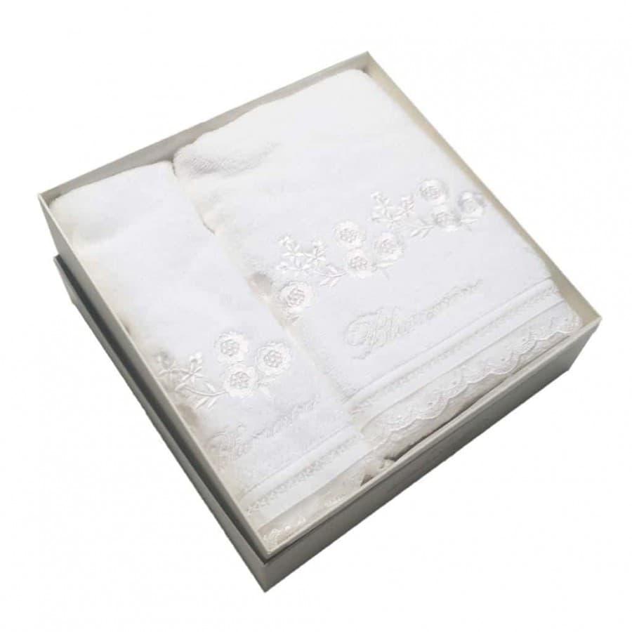 Набор махровых полотенец  Blumarine DELIZIA Bianco