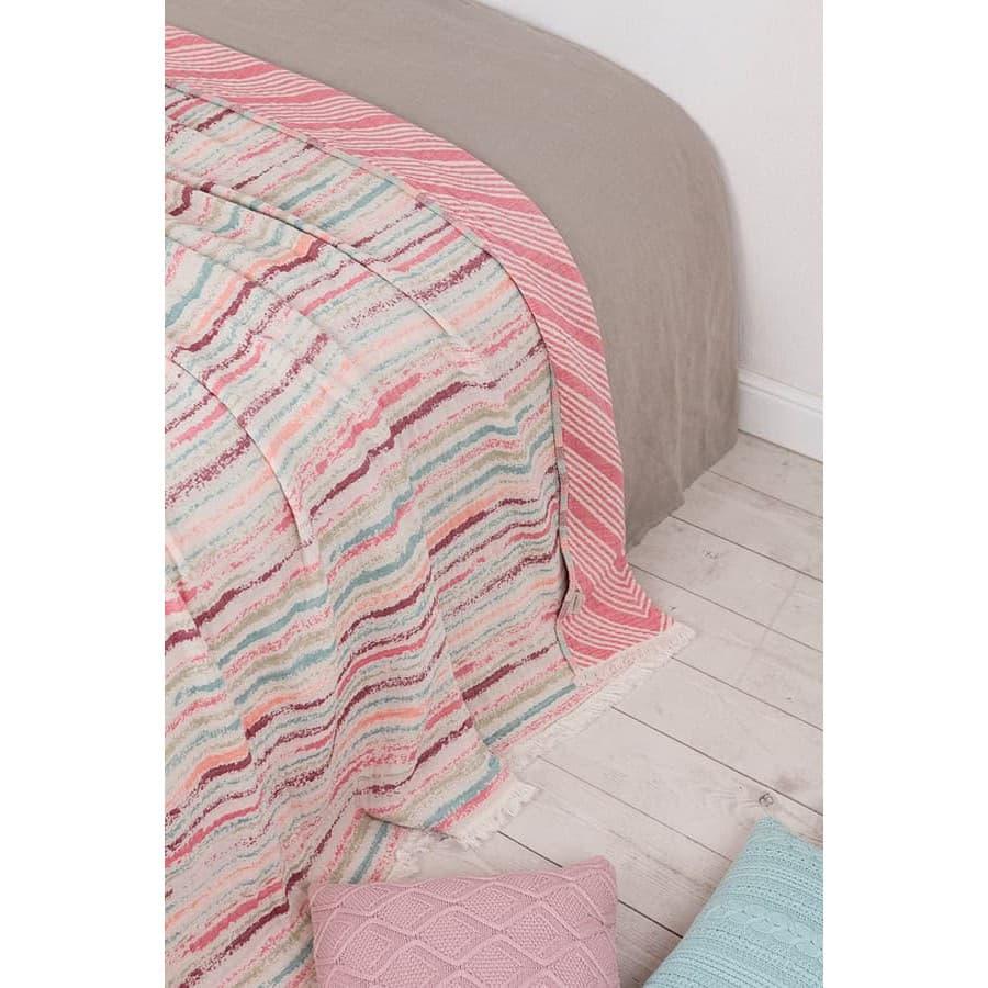 Покрывало Luxberry BALI розовый/бирюзовый/бордо