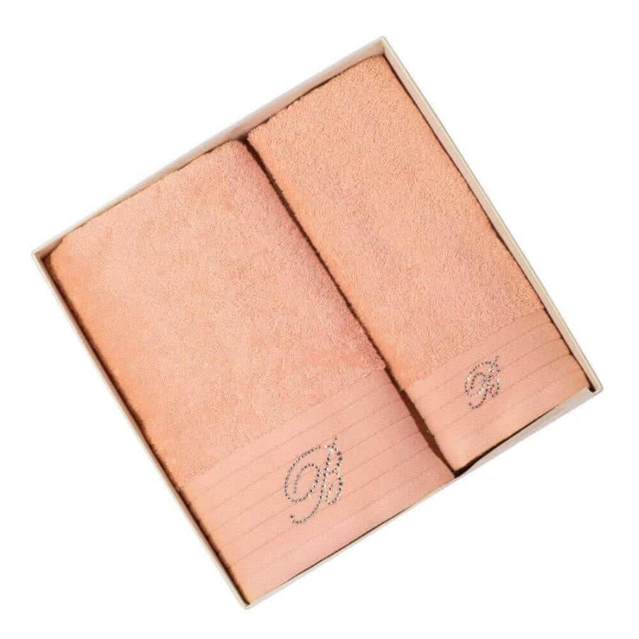 Махровые полотенца Blumarine (Италия) Peach 2 шт