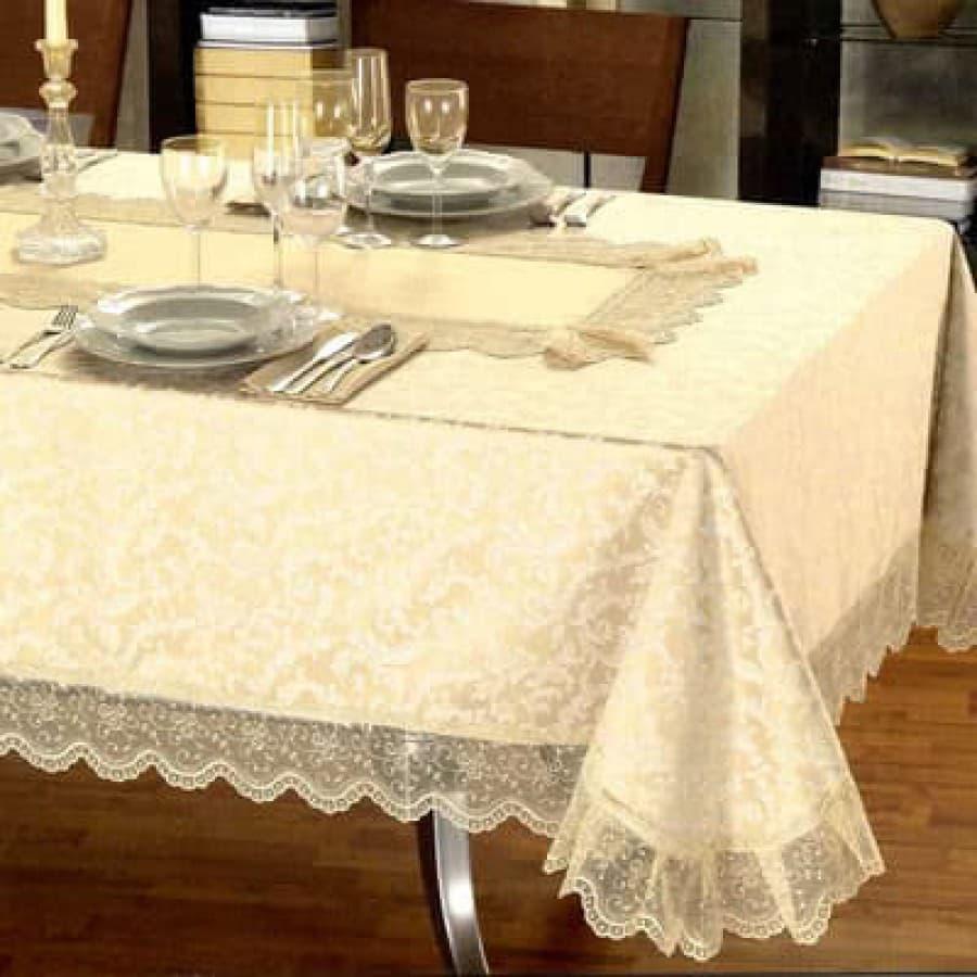 Скатерть с салфетками на круглый стол d 250