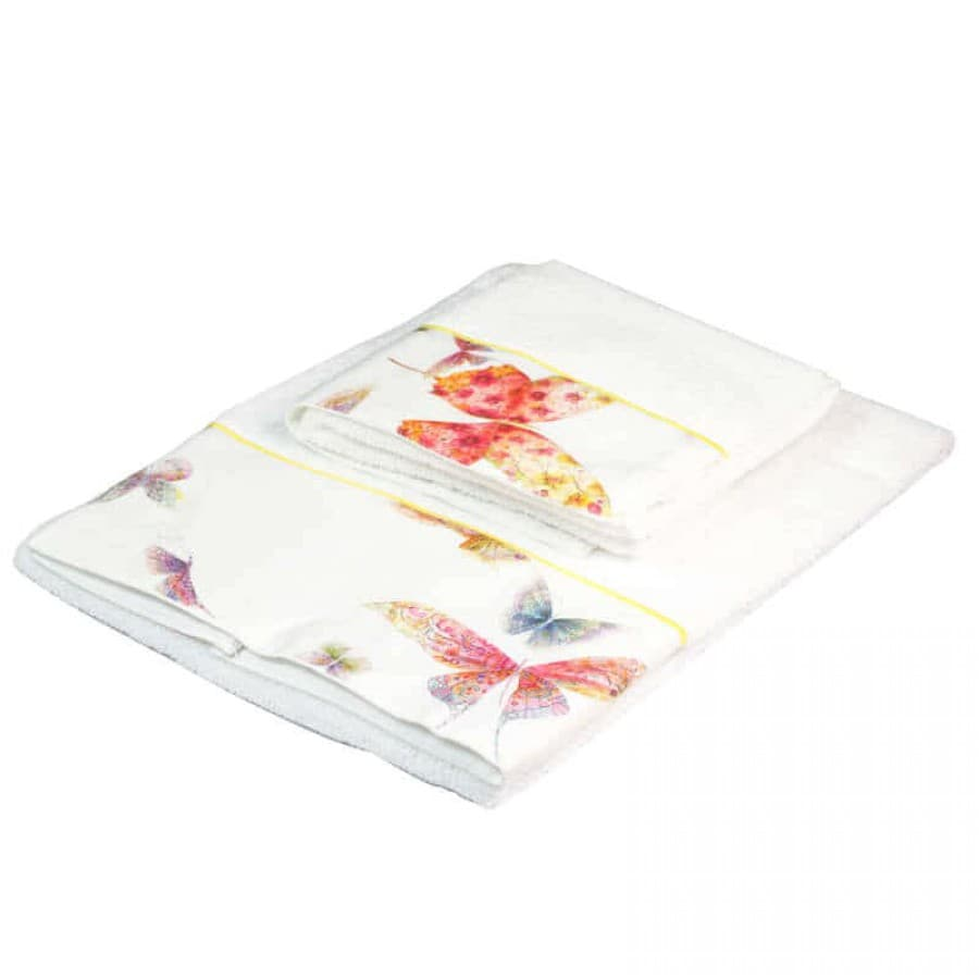 Набор полотенец Mirabello (Италия) Butterfly White