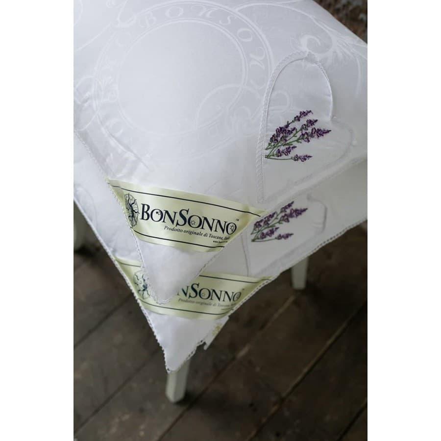 Подушка шелковая Bonsonno Provence silk de lux lavanda.