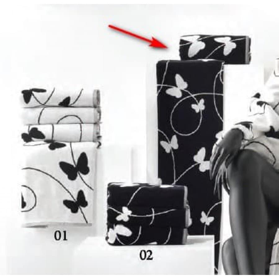 Набор полотенец Carrara Италия MELODY белый,черный