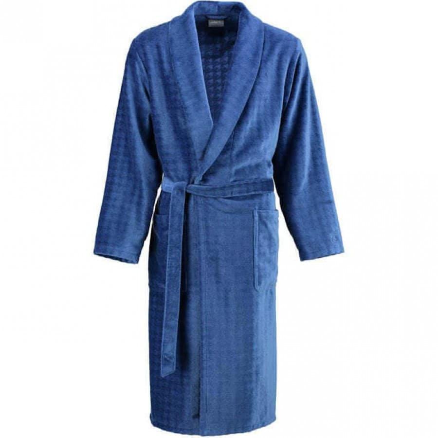 Халат мужской велюровый Cawo 1716 синий