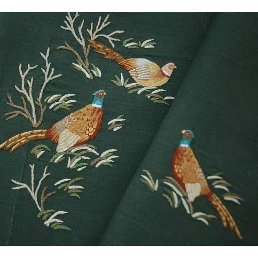 Скатерть Eri Textiles PHEASANT GREEN 110х110