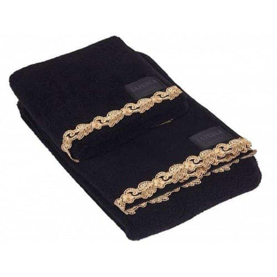 Полотенеца La Perla PETIT MAISON черный с золотым кружевом