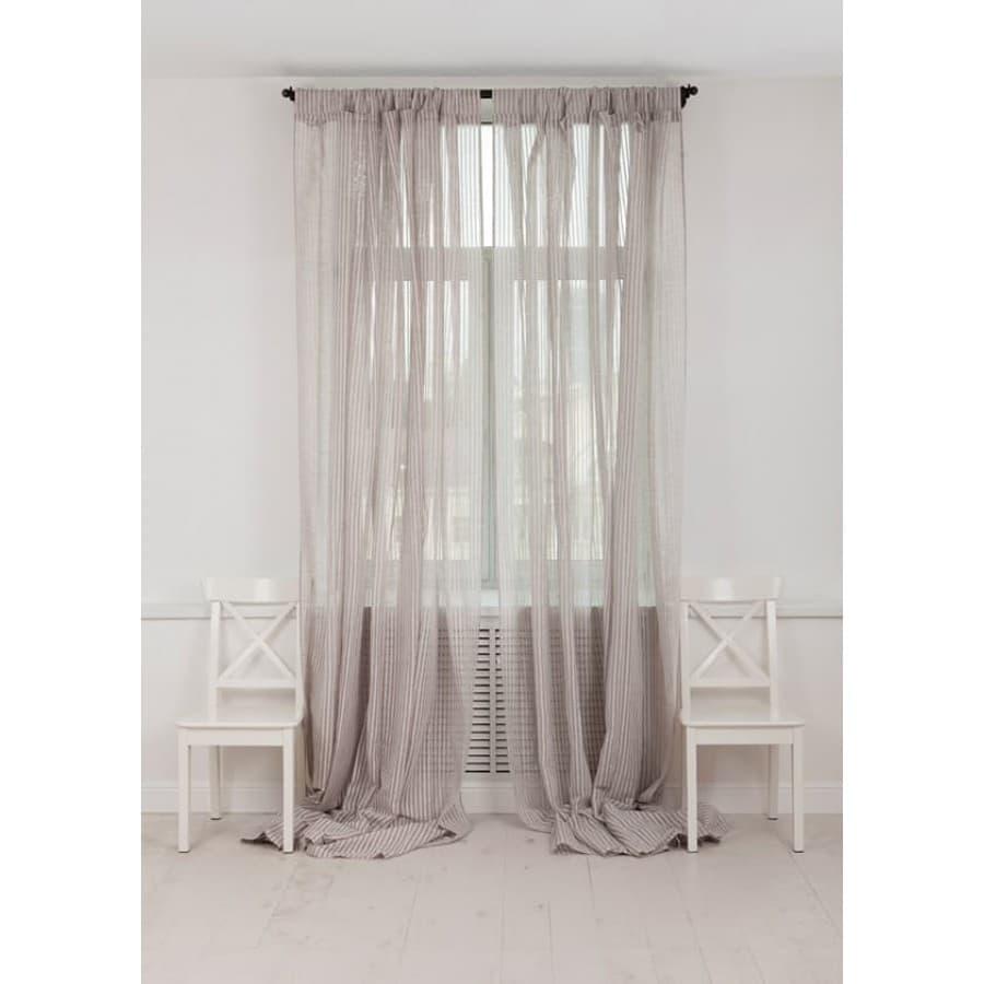 Шторы Luxberry Curtain line серо-бежевые