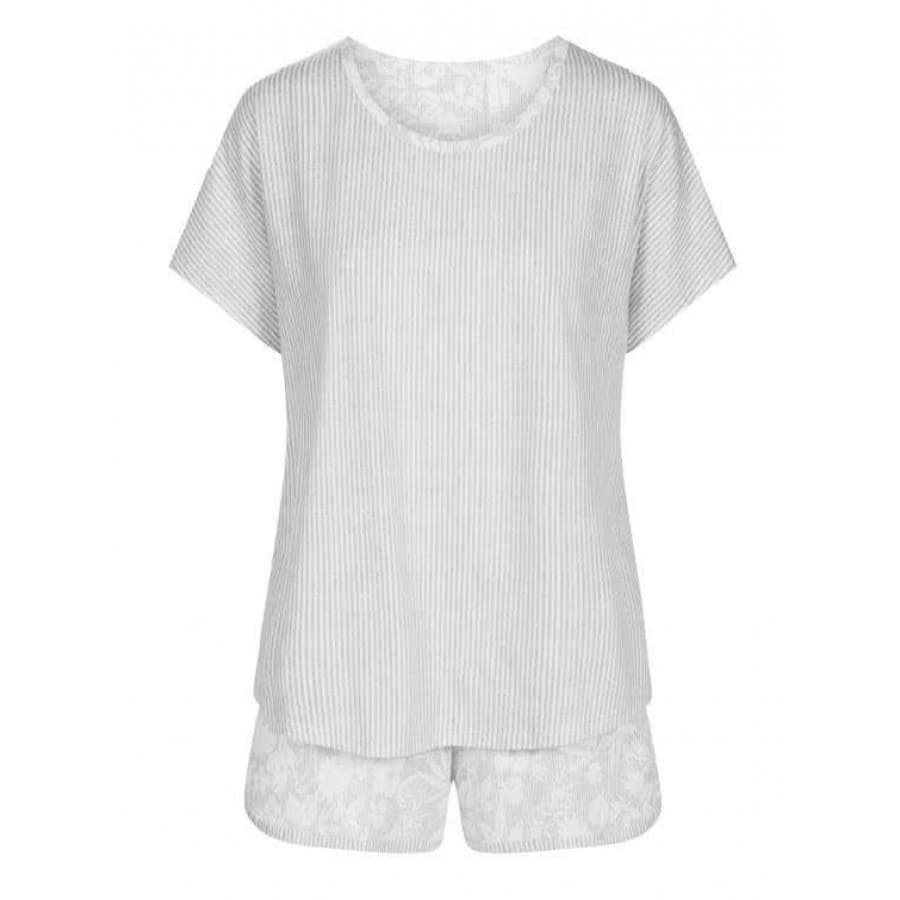 Пижама женская с шортами Rosch (Германия) FLOWER STRIPE 1203012