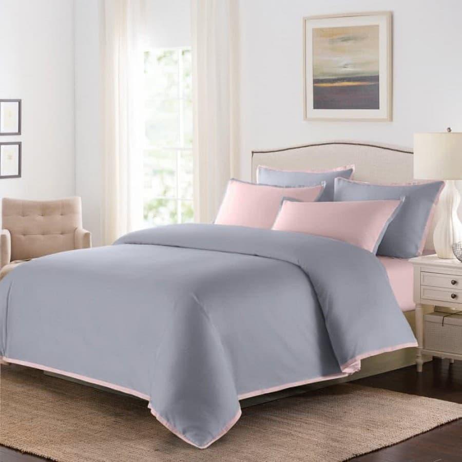 Постельное белье Coctail серый с розовым