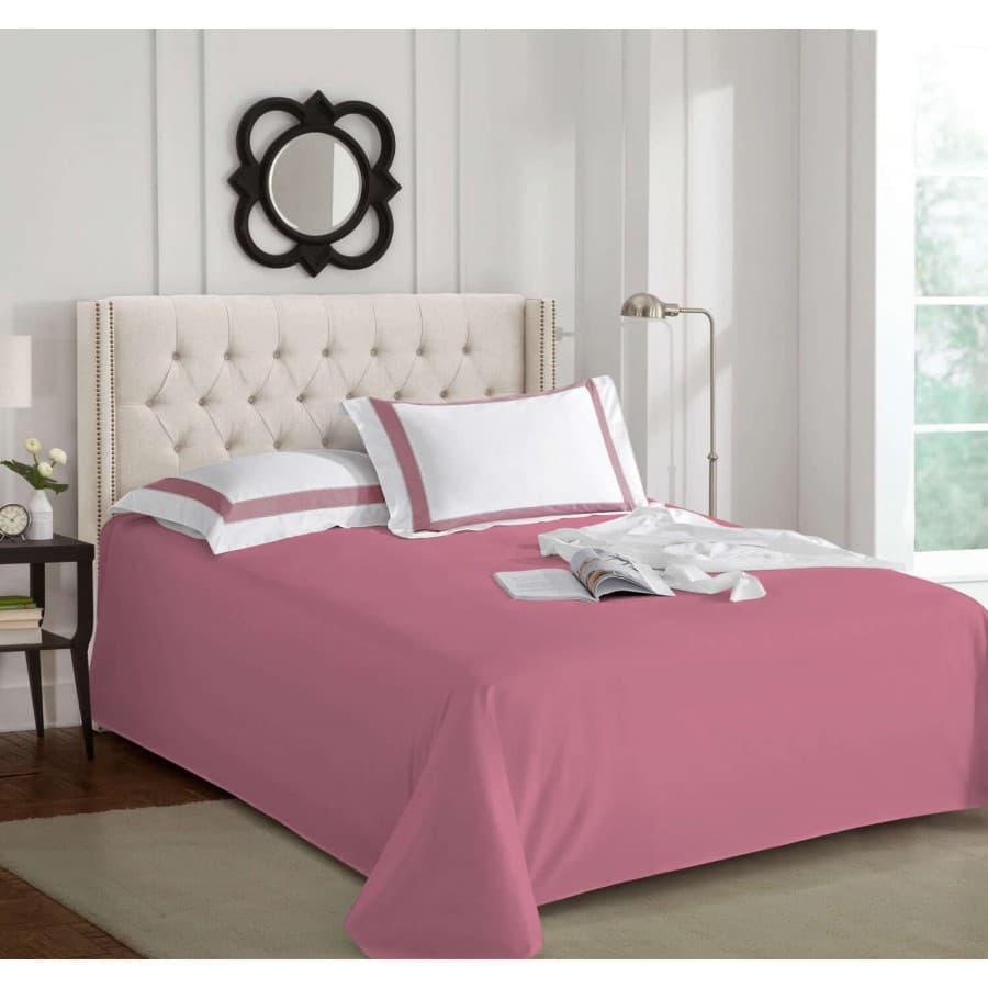 Простынь без резинки Sharmes темно розовая