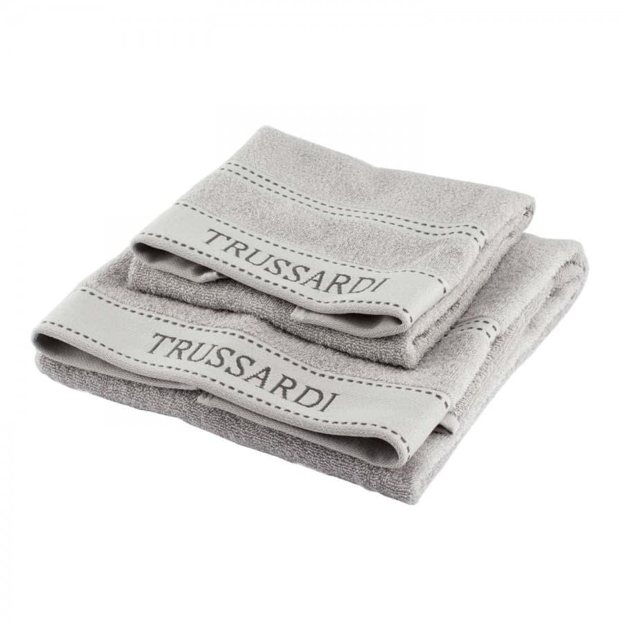Полотенце Trussardi (Италия) Ribbon серый