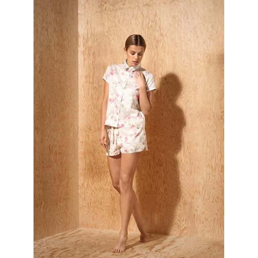 Пижама женская с шортами Zimmerli (Швейцария) FLOWERS 5084