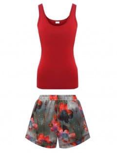 Пижама женская Zimmerli HERITAGE IN RED