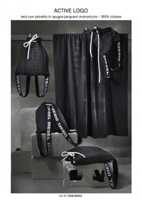 Полотенце и рюкзак Diesel ACTIVE LOGO BEACH TOWELS 001 95х180