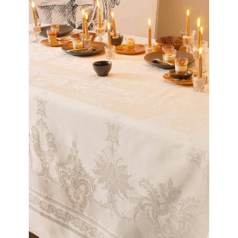 Скатерть на стол Garnier Thiebaut Beauregard Ivoire