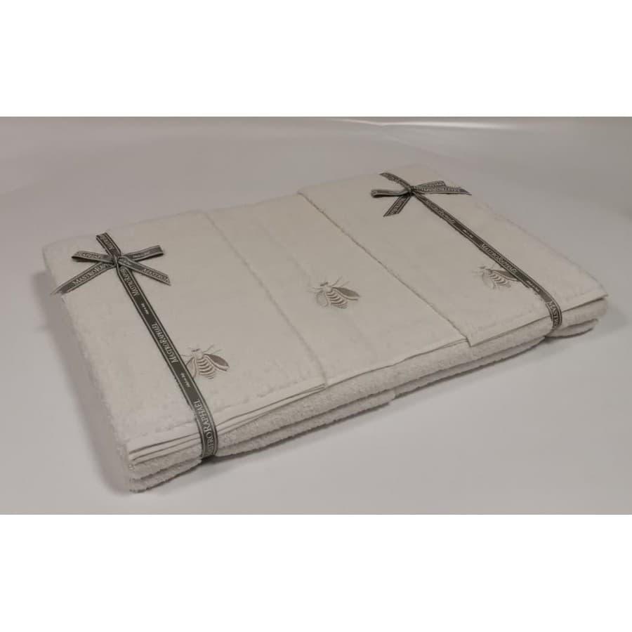 Набор полотенец Mastro Raphael API 9A2A айвори и серый Пять штук