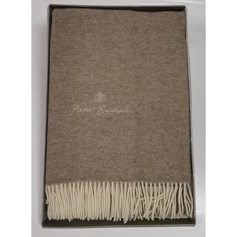 Плед Mastro Raphael PHIL UNITO LANA RICAMAT коричневый 130х170