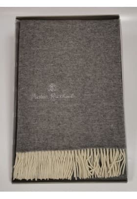 Плед Mastro Raphael PHIL UNITO LANA RICAMAT серый 130х170