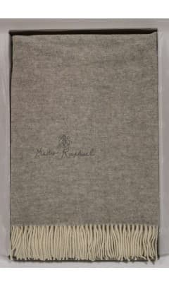 Плед Mastro Raphael PHIL UNITO LANA RICAMAT коричнево серый 130х170