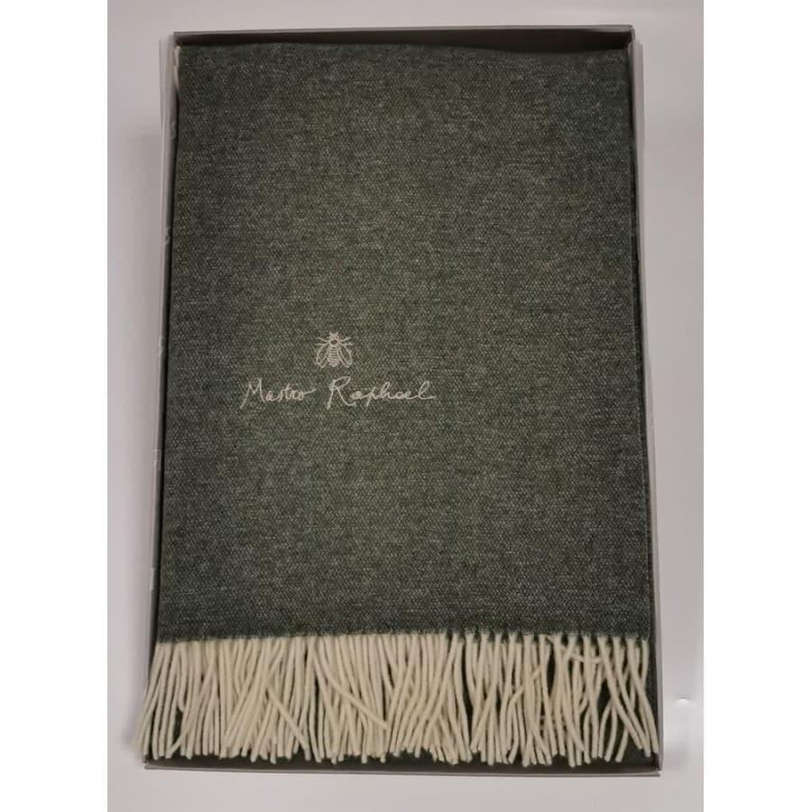 Плед Mastro Raphael PHIL UNITO LANA RICAMAT зеленый 130х170