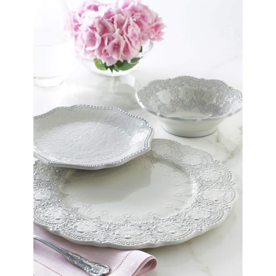 Чаша для супа Merletto White керамика 18 см