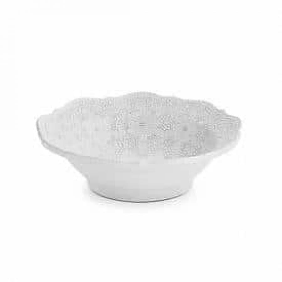 Чаша для салатов, фруктов Merletto White 30х7см