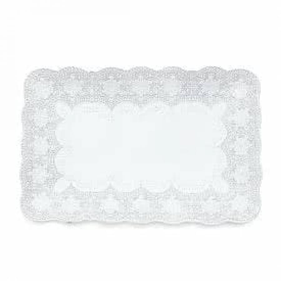 Блюдо прямоугольное Merletto White 39х25 см