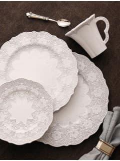 Тарелки керамика Arte Italica ( Италия) Merletto White
