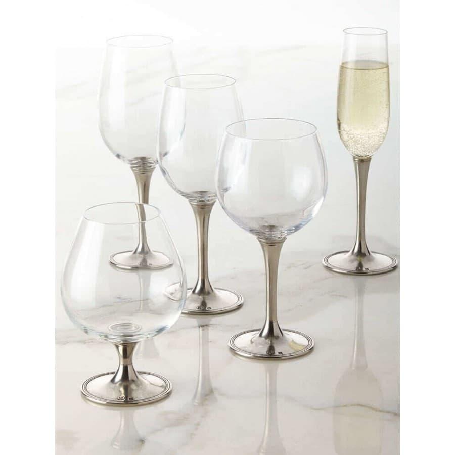 Бокал для шампанского хрустальное стекло,олово